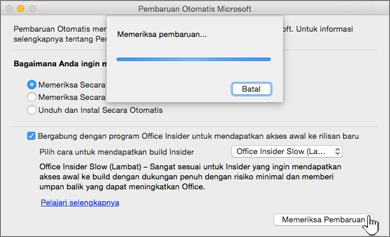 Memeriksa Pembaruan Insider Slow di Mac