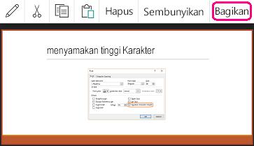 Perintah Berbagi di PowerPoint untuk Android