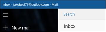 Tampilan pita jika Anda memiliki aplikasi Email untuk Windows 10.