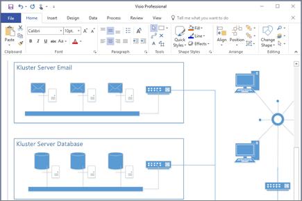 Cuplikan layar diagram yang dibuat di Visio 2016.