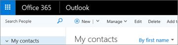 Tampilan pita jika Anda memiliki Outlook di web.
