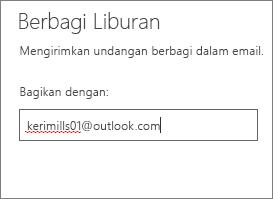 Masukkan alamat email lengkap