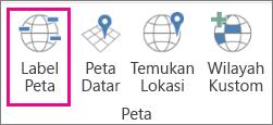 Opsi Label Peta pada Peta 3D