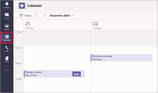 Tampilan kalender