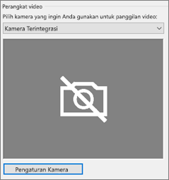 Pengaturan kamera perangkat video