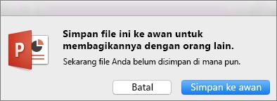 Simpan ke Awan PPT untuk Mac