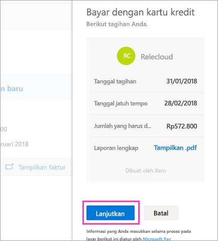 Cuplikan layar tombol di panel tugas