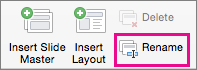 Perintah Ganti Nama Master Slide PPT untuk Mac