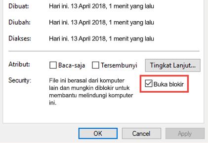 Blokir file