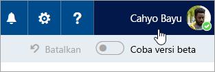 Cuplikan layar tombol foto profil