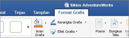 Gambar SVG dipilih, memungkinkan tab format grafik pada pita