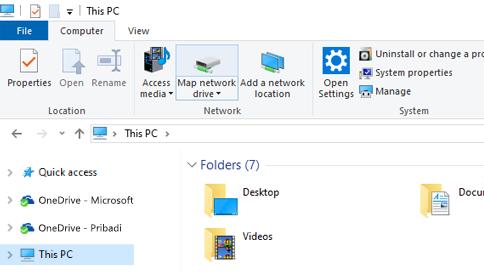 Cuplikan layar file Explorer