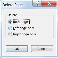 Hapus halaman dari publikasi Anda dengan dialog Hapus Halaman.