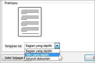 Opsi orientasi halaman