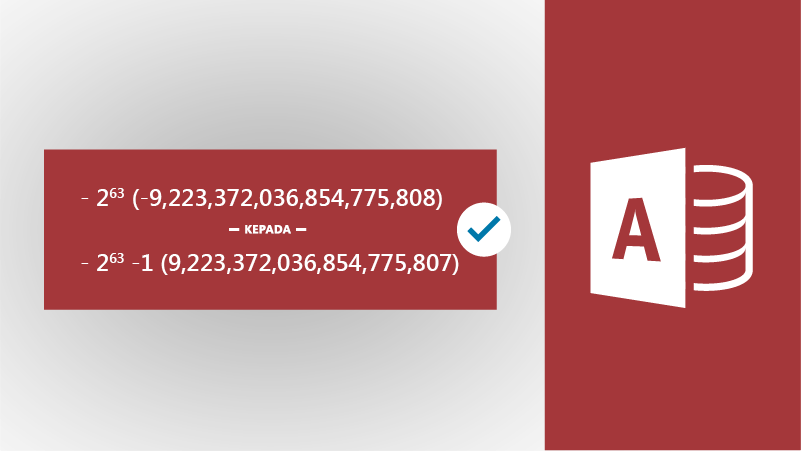 Ilustrasi dengan ikon Access dan angka besar