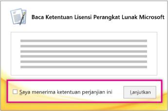 Baca dan terima ketentuan lisensi