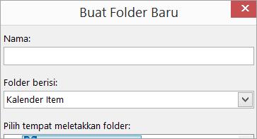 Kotak dialog Buat Folder Baru