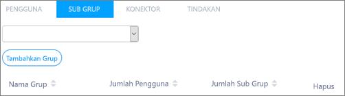 Cuplikan layar: Menambahkan sub-grup Kaizala ke grup induk