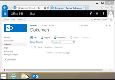 Buka File Explorer dari bilah Mulai, atau lokasi lain.