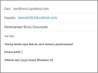 Ketik Subjek dan isi email, dan klik Kirim.