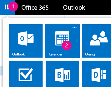 Outlook Web App, buka Kalender Anda