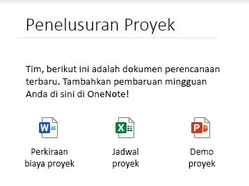 File yang disematkan pada halaman di OneNote untuk Windows 10