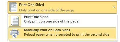 Pencetakan dupleks manual