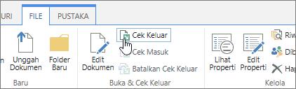 Melakukan check out tombol dengan tips alat terbuka
