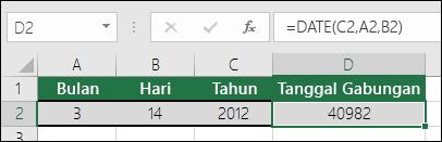 Fungsi DATE contoh 1
