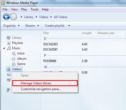 Kelola Perpustakaan Video.