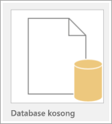 Ikon database kosong