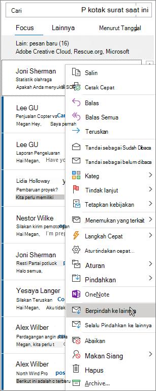 Kotak Masuk Prioritas di Outlook