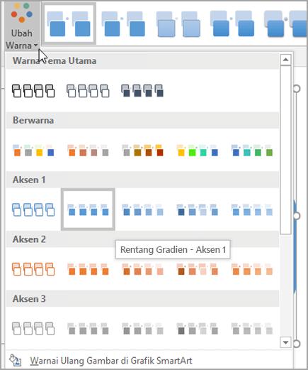 Pilih tema warna