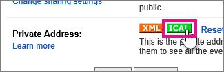 kalender google - buat ical pribadi