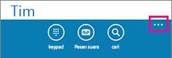 Ketuk tiga titik di bagian bawah layar untuk memperlihatkan menu pengaturan lainnya
