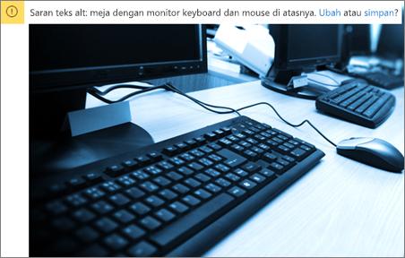 Gambar dengan perintah teks alternatif