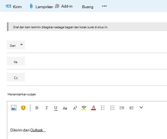 Tambahkan alamat ke email di kotak surat situs