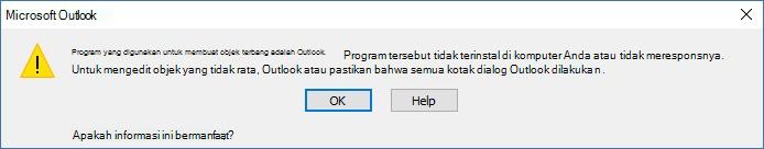 Program tidak terinstal
