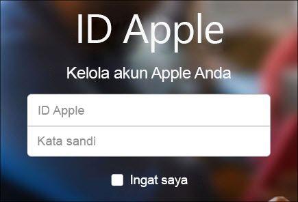 Masuk dengan nama pengguna dan kata sandi iCloud Anda