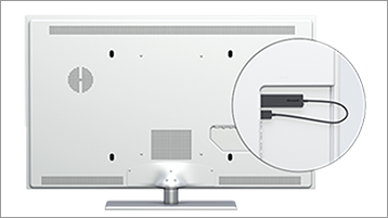Adaptor tampilan nirkabel di monitor