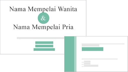 Gambar konseptual pernikahan undangan dan respons kartu