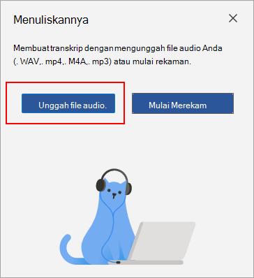Pilih Unggah audio