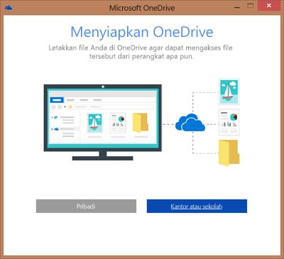 Cuplikan layar kotak dialog Siapkan OneDrive ketika menyiapkan OneDrive for Business untuk disinkronkan