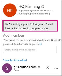 Pesan peringatan tentang menambahkan Anda ke grup