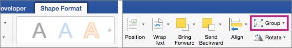 Untuk membuat grup dipilih gambar atau objek, klik grup.