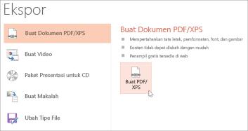 Simpan presentasi sebagai PDF