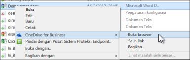 Tampilkan file dalam folder yang disinkronkan dalam browser web