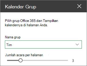 Kotak alat kalender grup