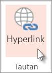 Pada tab sisipkan, klik Hyperlink.