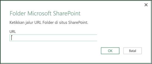 Dialog konektor Folder SharePoint Excel Power BI